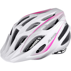 Alpina FB 2.0 Flash Fietshelm Jongeren, white-pink-silver